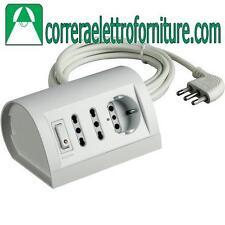 Multipresa elettrica ciabatta BTICINO da scrivania con interruttore bianca S3711
