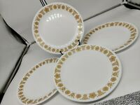 """Set of 4 Vintage Corelle Butterfly Gold 10 1/4 """" Dinner Plates Retired  USA"""