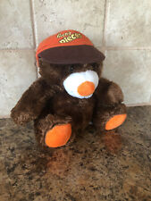 "Hershey Reese's Pieces Teddy Bear Plush With Orange Hat 7"" Stuffed Animal Brown"