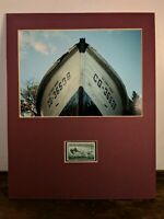 U.S. Coast Guard CG - 36538 Rescue Lifeboat Photo and 1945 Stamp Matted