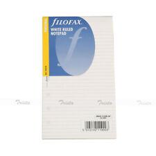 Filofax Book Personal Size Organiser White Ruled Notepad Refill Insert 132210 J