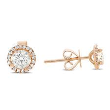 14K Yellow Gold Round Cut Simulated Diamond Stud Earrings Wedding Bridal 0.70ctw
