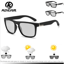 KDEAM Men's Photochromic Polarized Sunglasses Outdoor Driving Square Glasses New