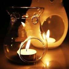 Glass Candle Holder Candlestick Scented Oil Warmer Burner Stove Home Decor Gift