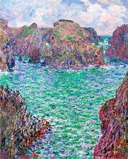 Port Goulphar Bellelle by Claude Monet A1+ High Quality Art Print