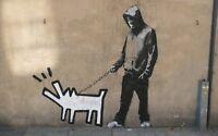 Banksy - Thug Hooligan Dog Graffiti Wall Art Photo Poster / Canvas Pictures