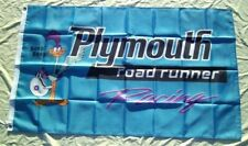 New listing Plymouth Road Runner Flag 3' X 5 Banner Indoor / Outdoor Racing Flag 86