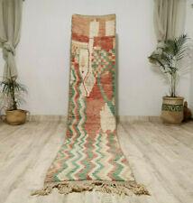 Boujaad Handmade Moroccan Runner 2'3x10'9Berber Patchwork Pastel Colors Wool Rug