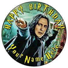 """Harry Potter severo Snape - 7.5 """"Personalizadas Ronda Comestibles Glaseado Cake Topper"""