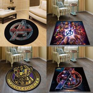 The Avengers Comics Cool Velboa Floor Rug Carpet Room Doormat Non-slip Chair Mat