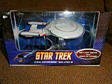 2008 Mattel Hot Wheels Star Trek U.S.S. Enterprise NCC 1701- D Metal Stand RARE