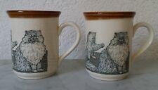ältere Tasse Becher Kaffeetasse Coloroll Biltons England Keramik Katze Kätzchen