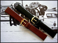 19mm Black Italian calf leather vintage watch band strap IW SUISSE 16 17 18 20mm