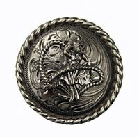 """Western Equestrian Cowgirl Decor Old Silver Rope Cowgirl Concho's 1 1/4 """""""