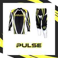 PULSE MOTOCROSS MX ENDURO BMX MOUNTAIN BIKE KIT - TSUNAMI YELLOW & BLACK KIT