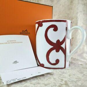 Authentic Hermes Paris Porcelain Mug Balcon du Guadalquivir  w/Case&Papers(NEW)