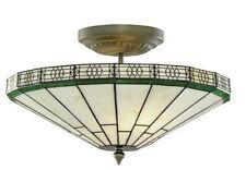 Searchlight Handmade Tiffany Glass Antique Bronze Ceiling Light 4417-17