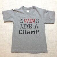 Soffe Boys Baseball Shirt Swing Like A Champ Size Medium 10-12