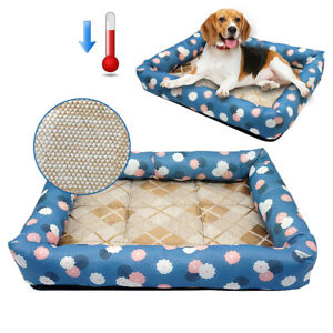 Pet Cat Dog Bed Self Cooling Bed Waterproof with Anti Slip Bottom for Cats Puppy
