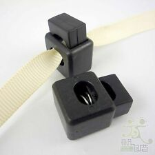 10 pcs Black Cord Locks Stops Square Toggles 22x15mm Button Craft Stoppers