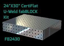 CertiFlat FB2430 2'X2.5' FabBlock DIY Modular Welding Table Top Kit - Heavy Duty