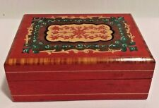 Vintage Chinese Wooden Carved Jewelry Box EUC