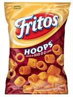 1 Bag - Fritos Hoops BBQ Large size (370G) Canadian