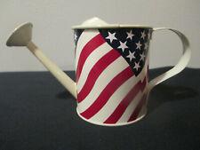 Mini Metal Off White Stars & Stripes Decorative Watering Can