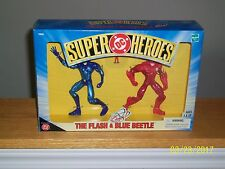 Hasbro DC Super Heroes- Flash and Blue Beetle with the Atom