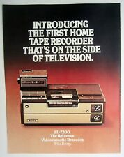 Sony Sl-7200 Betamax First Ever Home Vcr Sales Brochure (1976) Vintage Mint!