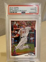 2014 TOPPS MIKE TROUT #1 PSA 10 GEM MINT NO SPARKLE ON CLEAT LAA ANGELS MVP