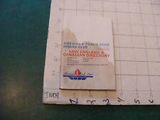 ORIGINAL Vintage book: AMERICAN TORCH CLUB DINERS CLUB 1969 STAINED COVERS