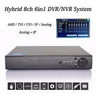 Hybrid 8CH 1080P/960P IP CAMERA NVR AHD/TVI/CVI/IP/Anolog AUDIO DVR HDMI OUTPUT