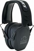 Walker's Razor Slim Passive Earmuff  Ultra Low - Profile Earcup - 26dB - Black