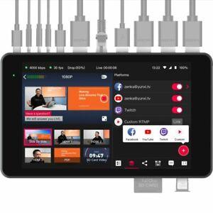 "YoloLiv YoloBox Pro Portable 8"" Multi-Camera Live Streaming Studio Monitor"