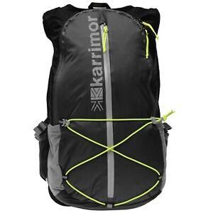 Karrimor 15L Running Hiking Lightweight Reflective Rucksack Backpack Bag Black