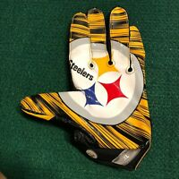 Pittsburgh Steelers NFL Big Logo Game Used Nike Vapor Jet Left Glove - XL
