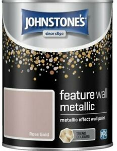 Johnstones Rose Gold Metallic Effect Feature Wall Paint 1.25L