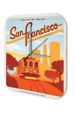 Horloge murale Nostalgie Du Voyage Ville  Funiculaire de San Francisco Acrylglas