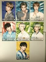 BTS Tower Records Flyer JAPAN Lights Boy With Luv Full Set of 7 photo card