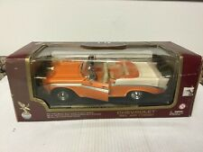 ROAD LEGENDS 1:18 SCALE 1956 CHEVY BEL AIR CONVERTIBLE  Orange/White
