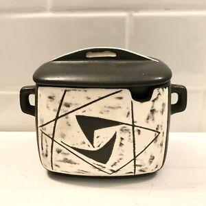 Rare Lauritz Jensen Danish Modern Mid Century Ceramic Sugar Bowl w/ Lid Gray