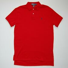 Polo Ralph Lauren Men's Short Sleeve Cotton Polo Shirt, Red Color with Pony, New