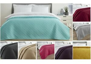 Soft Pinsonic Quilted Bedspread Coverlet Double Bed Large Sofa Sheet Duvet Pi...