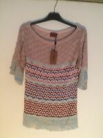 New Missoni Knit Top With Tag,Authentic.Size40 (Fits Size6USA).Made InI Italy.