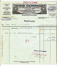 Litho Rechnung Theodor Teichgraeber Drogen Chemikalien Leipzig Plagwitz 1926 (D1