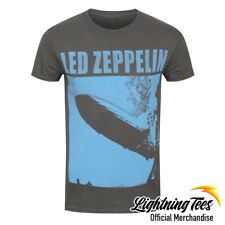 Official Led Zeppelin LZ1 Blue Cover Rock Band T-Shirt