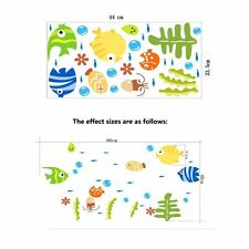 Kids Room Sea Fish Beauty Bathroom Wall Decal Bubble Fish Sticker Accessories