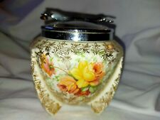 Vintage A J Wilkinson Ltd 'Celtic Rose' Chintz Sugar Pot In-Built Tongs REDUCED