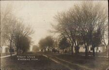 Woodbine IA Street Scene c1910 Real Photo Postcard